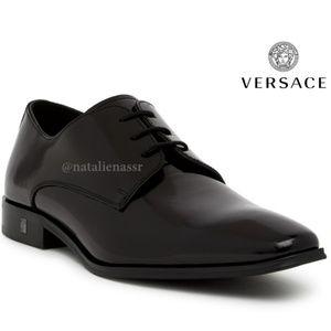 VERSACE Men's Black Leather Oxford